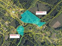 Katastrální a letecká mapa pozemku